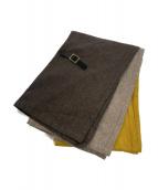 ()の古着「three cloth leathrbelt stole」 ブラウン×イエロー