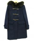 LAISSE PASSE(レッセパッセ)の古着「ファー付ダッフルコート」|ネイビー