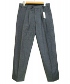 stein(シュタイン)の古着「WIDE TAPERED TROUSERS A」|グレー