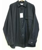 Stein(シュタイン)の古着「オーバーサイズドダウンパットシャツ」|ブラック