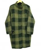 rag&bone(ラグアンドボーン)の古着「ブロックチェックロングコート」|カーキ