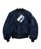 ALPHA(アルファ)の古着「B-15C TYPE JACKET」 ネイビー