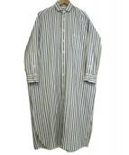 TICCA(ティッカ)の古着「シャツワンピース」|ホワイト×イエロー
