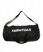 FOG ESSENTIALS(フェアオブゴット エッセンシャル)の古着「ボストンバッグ」|ブラック