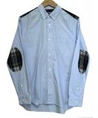 CDG JUNYA WATANABE MAN(コムデギャルソンジュンヤワタナベマン)の古着「切替ボタンダウンシャツ」|ブルー
