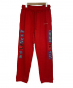 LONELY/論理(ロンリー)の古着「ANARCHY S.O.D LOGO SWEAT PANTS」|レッド