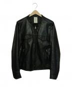 Shama(シャマ)の古着「カウレザージャケット」 ブラック