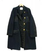 sacai(サカイ)の古着「コート」|ネイビー×ブラック