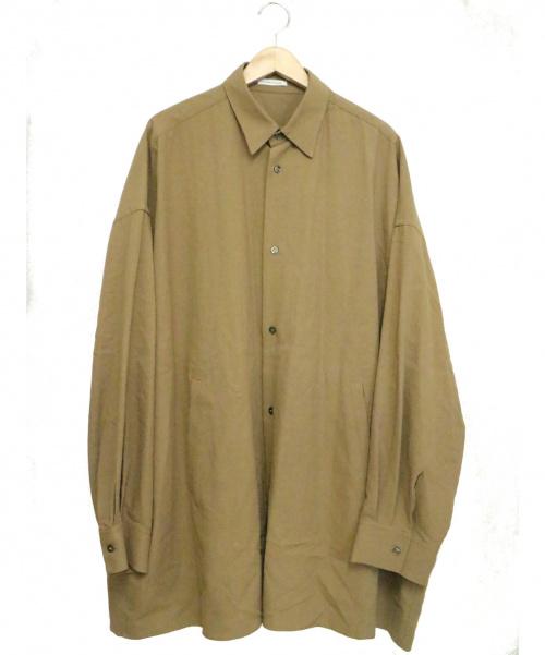 CLANE HOMME(クラネ オム)CLANE HOMME (クラネ オム) オーバーサイズシャツ ブラウン サイズ:1の古着・服飾アイテム