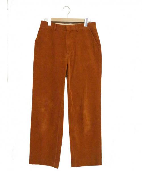 AURALEE(オーラリー)AURALEE (オーラリー) ウォッシュドコーデュロイ スラックス パンツ ブラウン サイズ:3 WASHED CORDUROY SLACKS A8SP02NC 参考定価30.000円+税の古着・服飾アイテム