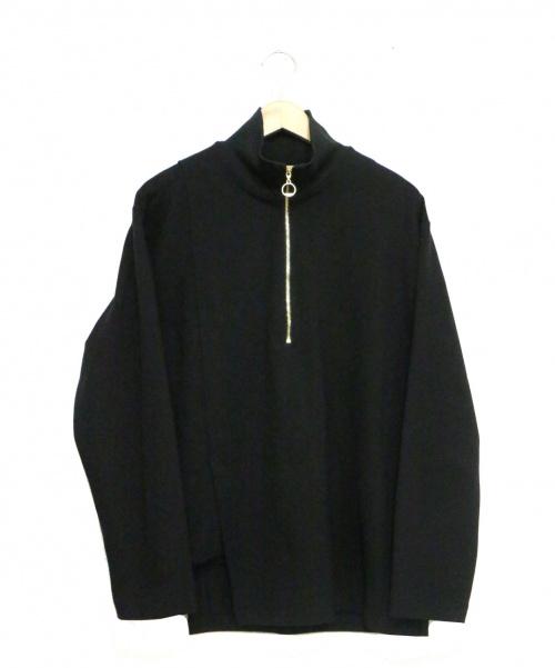 CULLNI(クルニ)CULLNI (クルニ) ハーフリングZIPプルオーバー ブラック サイズ:1 定価24.000円+税 STUDIOUS取扱の古着・服飾アイテム