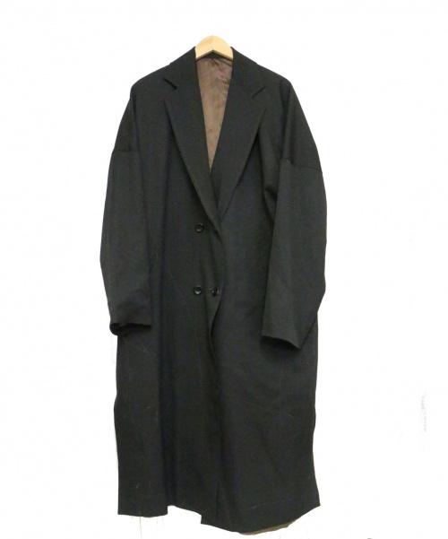 sulvam(サルバム)sulvam (サルバム) オーバーコート ブラック サイズ:S 未使用品 定価79.000円+税 19AW BOOMERANG取扱の古着・服飾アイテム