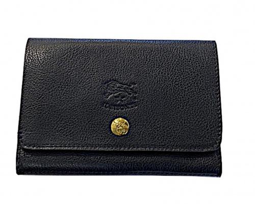 IL BISONTE(イルビゾンテ)IL BISONTE (イルビゾンテ) スナップサイフ ブラック 未使用品 定価32.000円+税の古着・服飾アイテム