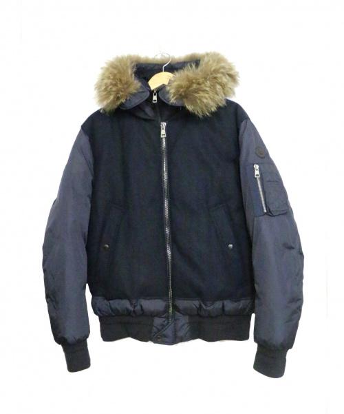 MONCLER(モンクレール)MONCLER (モンクレール) ダウンジャケット ネイビー サイズ:3 MUSCADE/マスケードの古着・服飾アイテム
