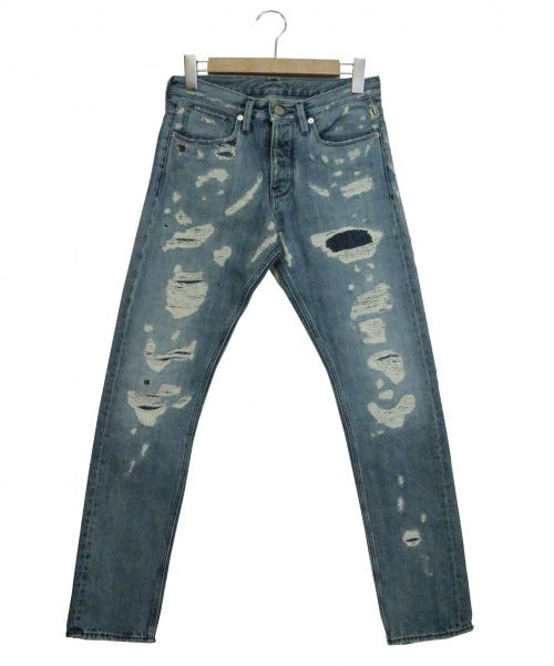EMPORIO ARMANI(エンポリオアルマーニ)EMPORIO ARMANI (エンポリオアルマーニ) ダメージデニムパンツ インディゴ サイズ:28 定価32,800円 SLIM FIT 3Y175-1D43Zの古着・服飾アイテム