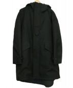 THE RERACS(ザリラクス)の古着「フーデッドロングコート」|ブラック