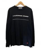 UNDER COVER(アンダーカバー)の古着「『時計じかけのオレンジ』ロングスリーブバックプリントTee」 ブラック