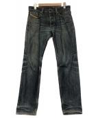 DIESEL(ディーゼル)の古着「ヴィンテージ加工デニムパンツ」|ブルー
