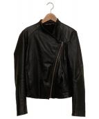 HELMUT LANG(ヘルムートラング)の古着「ラムレザーライダースジャケット」|ブラック