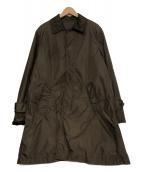 TOMORROW LAND(トゥモローランド)の古着「リモンタナイロン ステンカラーコート」|ブラウン