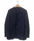 TOMORROW LAND PILGRIM(トゥモローランドピルグリム)の古着「Super150sウール2ボタンスーツ」|ネイビー