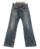 LEVIS VINTAGE CLOTHING(リーバイス ヴィンテージ クロージング)の古着「ユーズド加工デニムパンツ」|ブルー