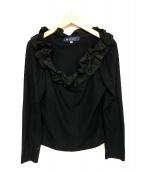 MS GRACY(エムズグレイシー)の古着「フリルカットソー」|ブラック