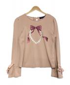 MS GRACY(エムズグレイシー)の古着「リボンプリントカットソー」|ピンク