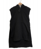 KAIKO(カイコー)の古着「SLEEVELESS SWEAT PARKA」|ブラック