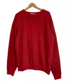 SEVEN BY SEVEN(セブンバイセブン)の古着「COTTON WOOL SWEAT SHIRT」|レッド