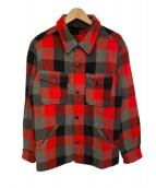 TENDERLOIN(テンダーロイン)の古着「バッファローチェックCPOジャケット」|ブラック×レッド