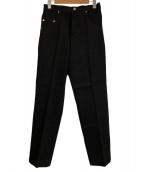 NEON SIGN(ネオンサイン)の古着「ストレートデニムスラックスリジット」|ブラック