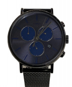 TIMEX(タイメックス)の古着「腕時計」 ブラック×ブルー