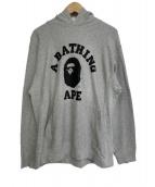 A BATHING APE(アベイシングエイプ)の古着「プルオーバーパーカー」 グレー