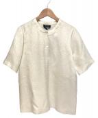 A.P.C.(アーベーセー)の古着「シルクブレンドウール半袖シャツ」 ホワイト