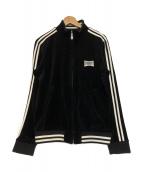 BURBERRY BLACK LABEL(バーバリーブラックレーベル)の古着「ベロアトラックジャケット」|ブラック