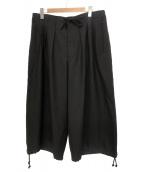 GROUND Y(グラウンドワイ)の古着「W/E ギャババルーンパンツ」|ブラック