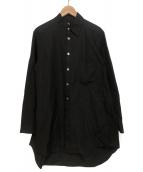 GROUND Y(グラウンドワイ)の古着「襟切断ブロードシャツ」|ブラック