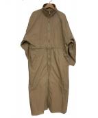 LE CIEL BLEU(ルシェルブルー)の古着「Track Dress」|ベージュ