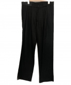 whowhat(フーワット)の古着「DOUBLE&DOUBLE TUCK PANTS」|ブラック