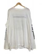uniform experiment(ユニフォームエクスペリメント)の古着「リバーシブルロングスリーブカットソー」|ホワイト×ブルー
