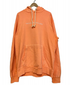 DIESEL(ディーゼル)の古着「プルオーバーパーカー/S-GIRK-HOOD-FLUO」|オレンジ