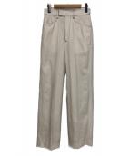 AEWEN MATOPH(イウエン マトフ)の古着「ステッチストレートパンツ」|ホワイト