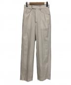 AEWEN MATOPH(イウエン マトフ)の古着「ステッチストレートパンツ」 ホワイト