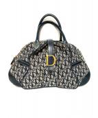 Christian Dior(クリスチャンディオール)の古着「トロッター柄ボストンバッグ」 ネイビー