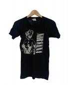 バンドTシャツ(バンドTシャツ)の古着「[古着]80's NIRVANA バンドTシャツ」|ブラック