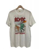 バンドTシャツ(バンドTシャツ)の古着「[古着]80's AC/DC バンドTシャツ」|ホワイト×レッド