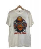 バンドTシャツ(バンドTシャツ)の古着「[古着]80's GRATEFUL DEAD バンドTシャツ」|ホワイト×オレンジ