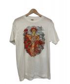 バンドTシャツ(バンドTシャツ)の古着「[古着]80's GRATEFUL DEAD バンドTシャツ」|ホワイト×レッド