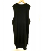 HYKE(ハイク)の古着「SLEEVELESS SWEATER DRESS」|ブラック